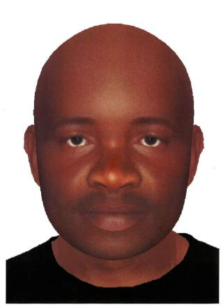 Police are still appealing for information about a man who looks this E-fit they released after the incident