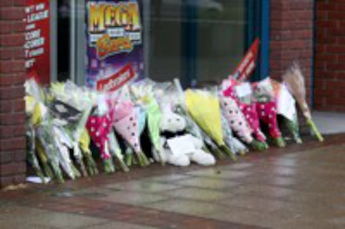 Flowers at Ladbrokes Morden at the time