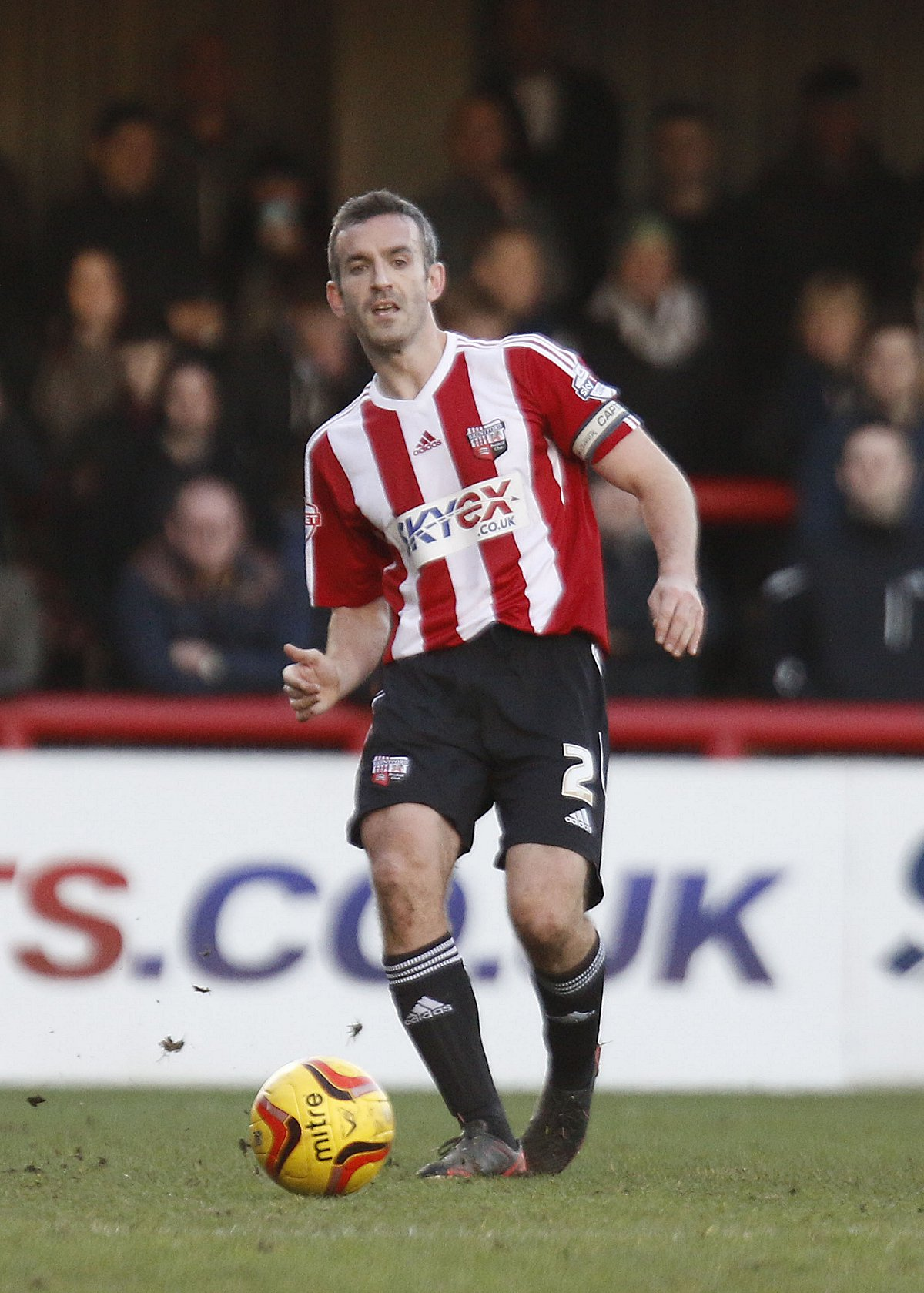 Captain fantastic: Brentford skipper Kevin O'Connor is a rare outing against Por