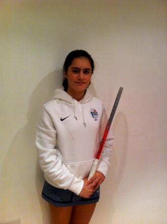One for the future: Lily Ghodrati, 14, from Croydon has been selected as part of the LTA's 2014 Aegon Future-Stars programme