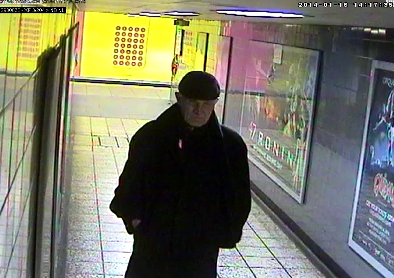 A CCTV image taken moment