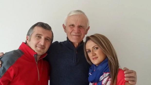 Vasile Belea with his children Ciprian and Alina