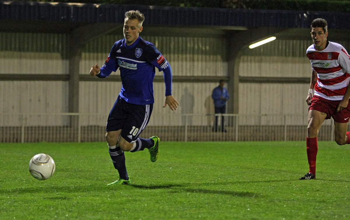 On target: Met Police striker Charlie Collins now has 11 goals to his nam