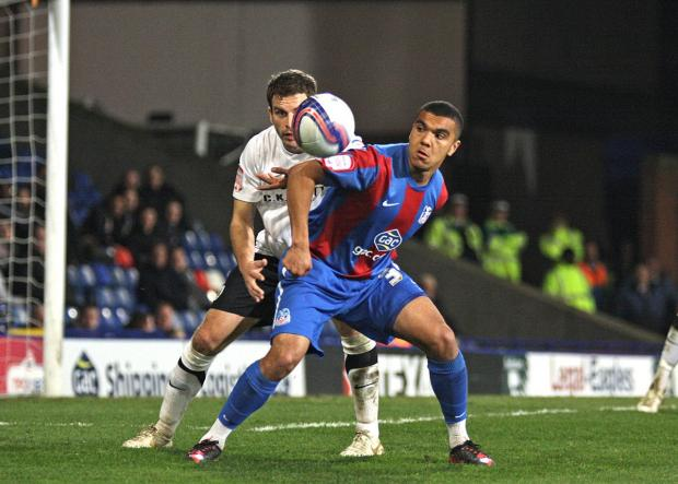 On loan: Kwesi Appiah has joined Notts County for a month, but he has also signed an extension to his Palace contract           SP65791