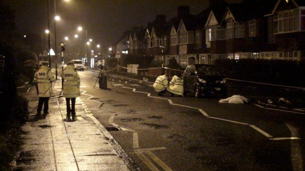 The scene after Jade was knocked down (pic: Simon Densley (The Worcester Park Blog))