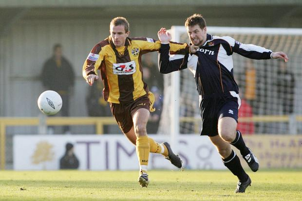 Sutton Guardian: Keep on winning: Darren Jones, here playing for Newport County against Sutton United in 2005, wants another win tonight against Hartlepool