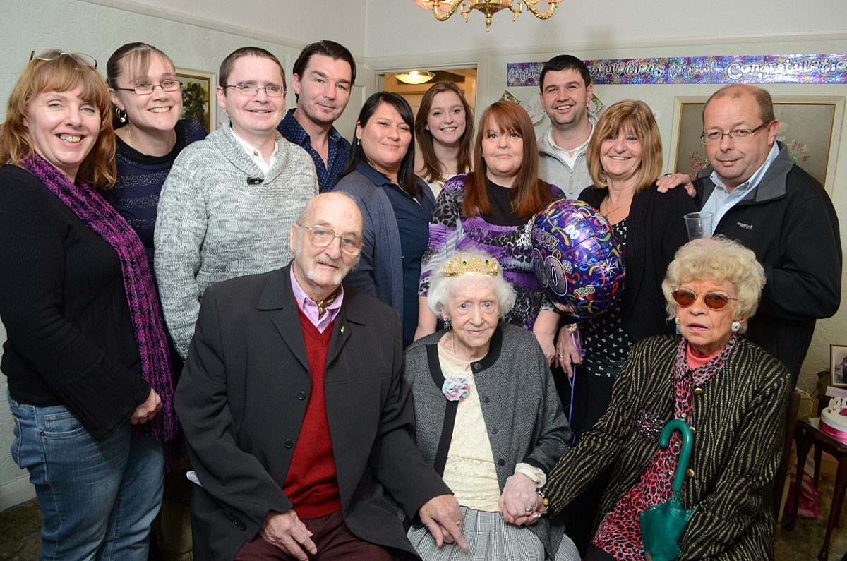 Great great grandmother recalls Sutton's countryside at 100th birthday party