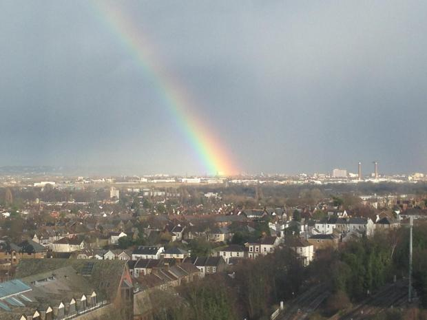 There should be a pot of gold somewhere in south London this afternoon