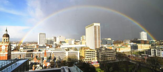 Sutton Guardian: Nice rainbow over Croydon town centre