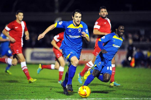 Top start: Danny Hylton marked his AFC Wimbledon debut with the winning strike against Hartlepool United              DeadlinePix SP82538