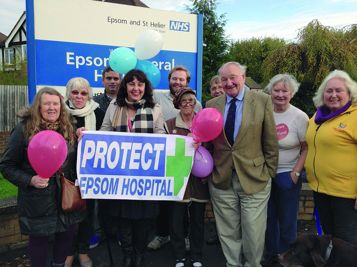 Epsom Hospital campaigners fear Clause 119 could see the hospital downgraded in the future