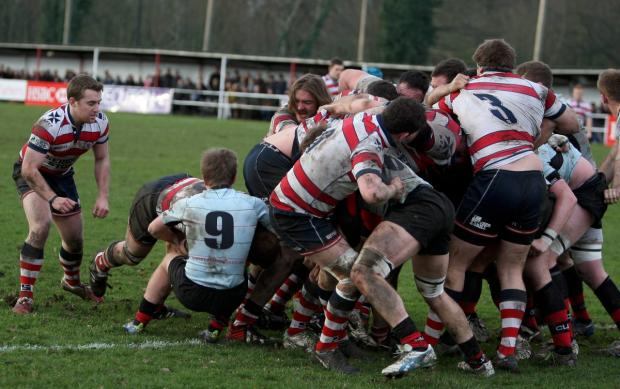 All action: Rosslyn Park went down 12-15 to Blackheath on Saturday      Picture: David Whittam