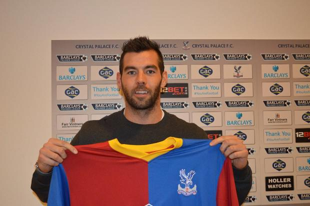 Now get in the shirt: Joe Ledley cannot wait to get playing for Crystal Palace