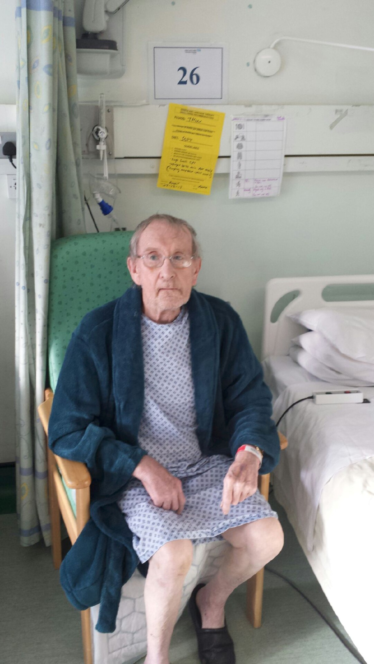 Brian Arneil, 77, had a tough wait