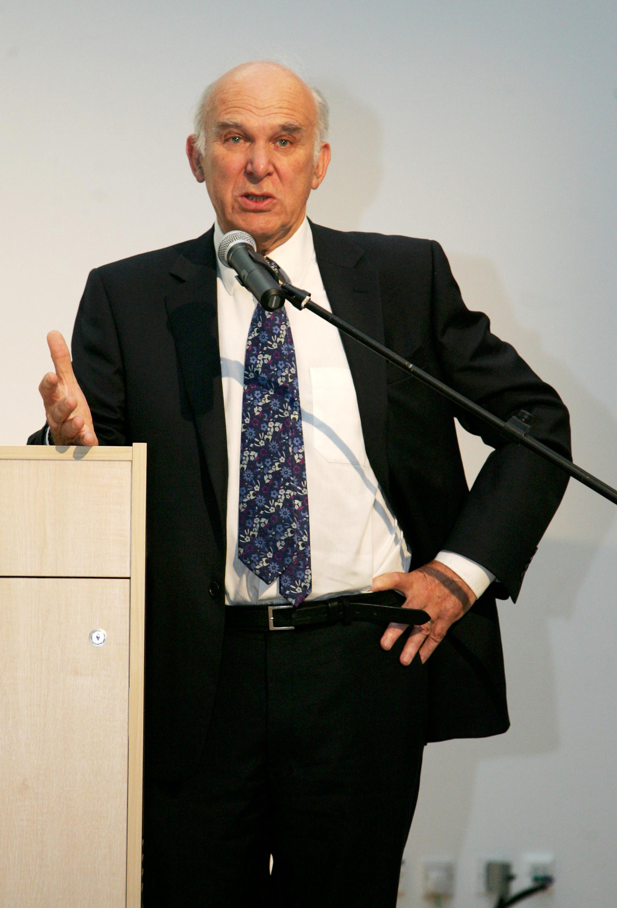 Safe standing: Vince Cable