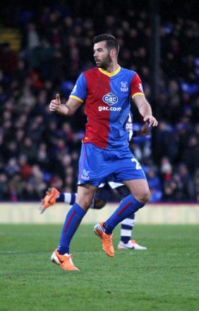 Here, there and everywhere: Joe Ledley made an impressive debut in the red and blue of Crystal Palace                  SP81781