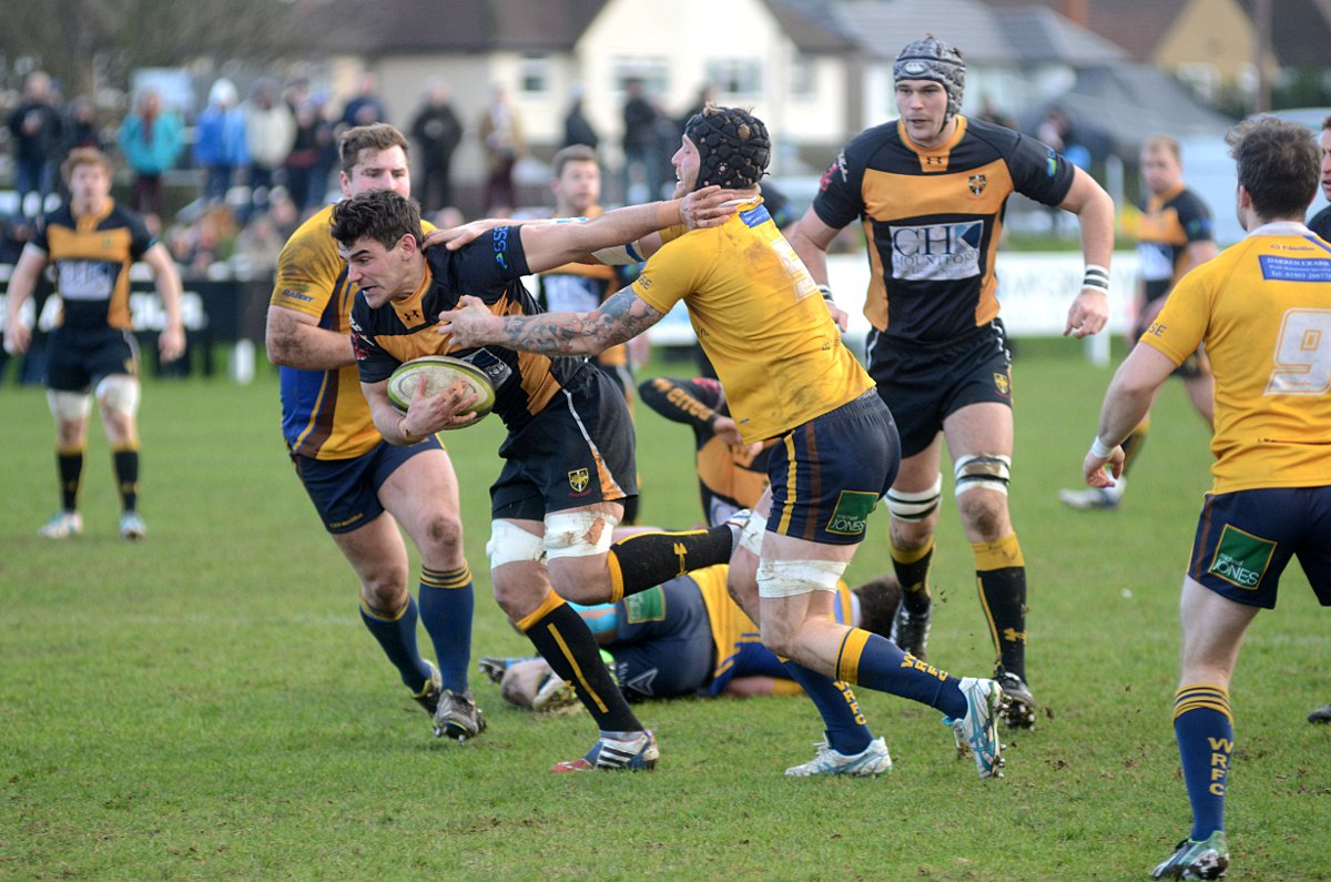 Leading the charge: Peter Synott's introduction from the bench gave Esher a lift on Saturday 	Deadlinepix SP82768