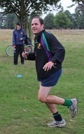 Run, Samos, run: Richmond & Twickenham Times' Stuart Amos in practice for the Kingston's Breakfast Run