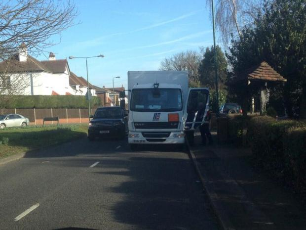 One of the lorries fined by police