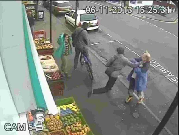 Sutton Guardian: DRAMATIC: CCTV footage of the moment Lewis Gill hit Andrew Young