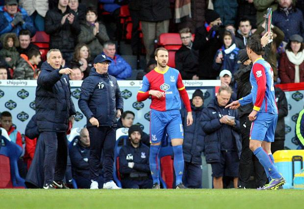 Coming back: Glenn Murray made an appearance off the bench in the win over West Brom, and he started in the defeat to Manchester United