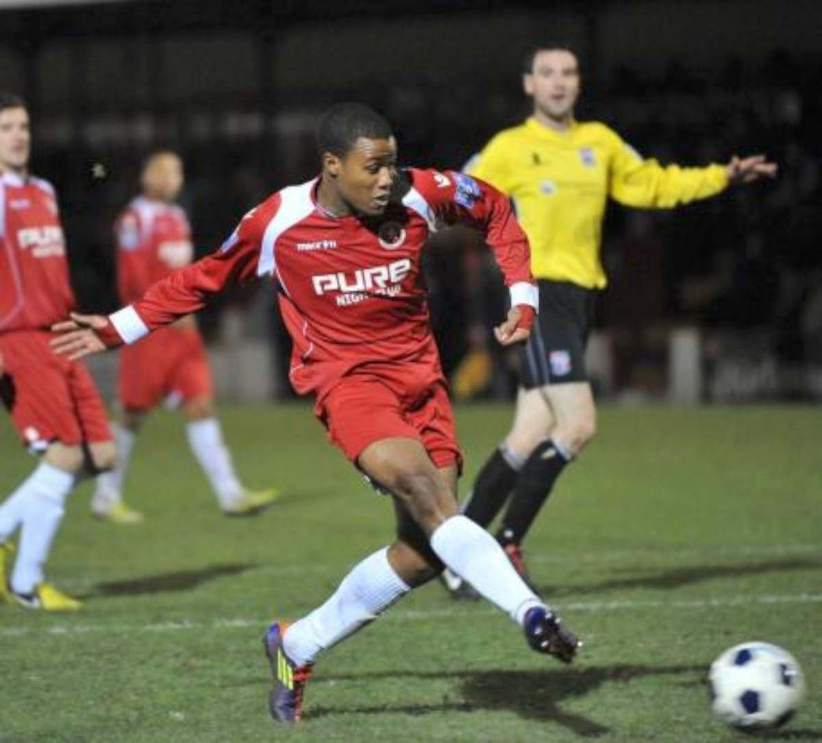 Impact man: Theo Fairweather-Johnson in his Welling United days       Picture: Dave  Budden
