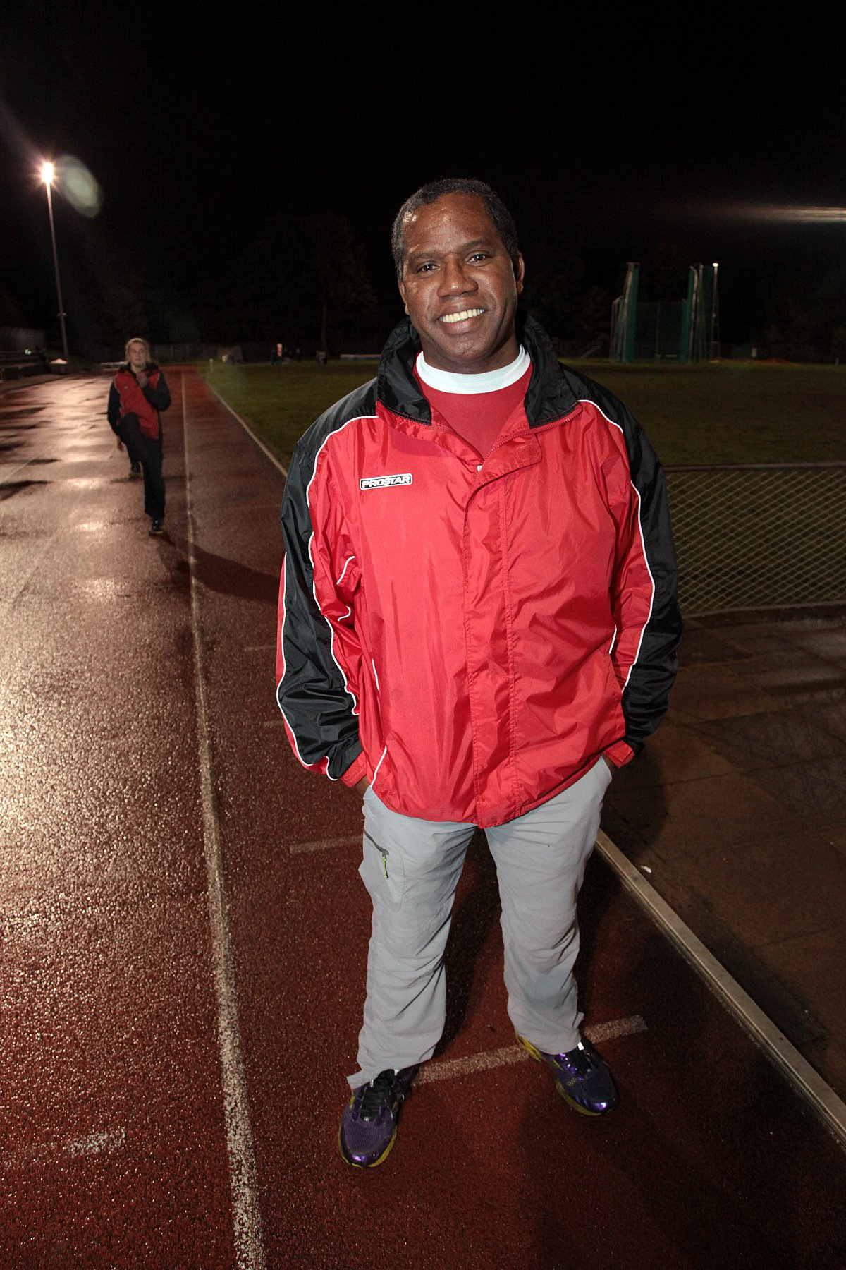 Proud: Herne Hill Harriers coach James McDonal