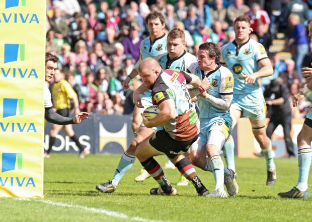Signed up: Rob Buchanan is one of six Quins stars to re-sign at the Stoop