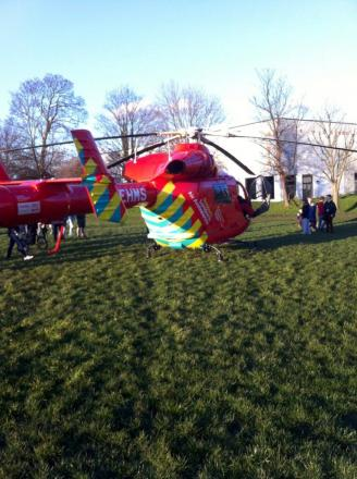 The air ambulance landed in nearby Grove Park (Pic: Wayne S-Langridge)