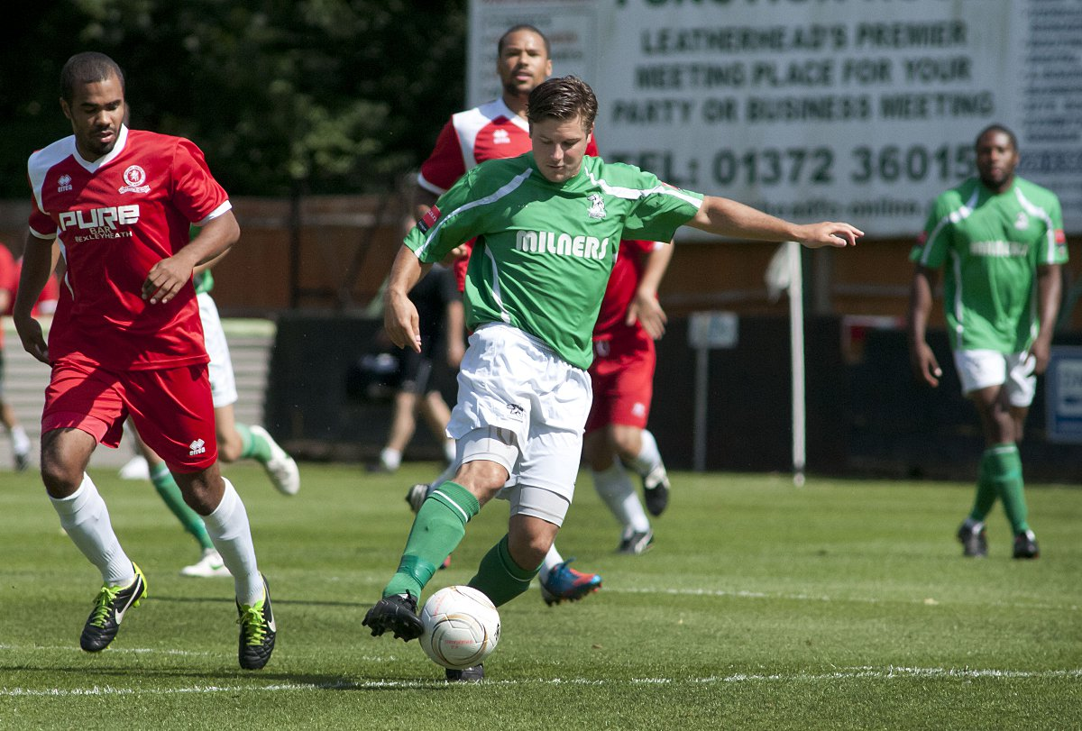 Last gasp hero: Kev Terry grabbed the winner in north Kent to seal a play-off berth for Leatherhead
