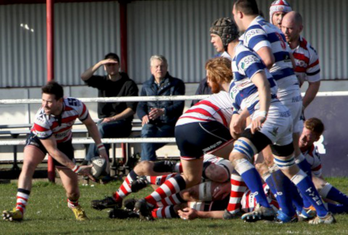 Set-up: Matt Heeks begins another Rosslyn Park move in the win over Tynedale                      All pictures: David Whittam
