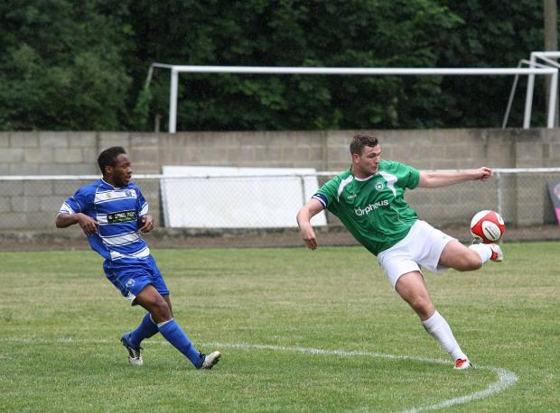 Double salvo: Jason Thompson bagged two goals in Whyteleafe's 3-1 win at Phoenix Sports
