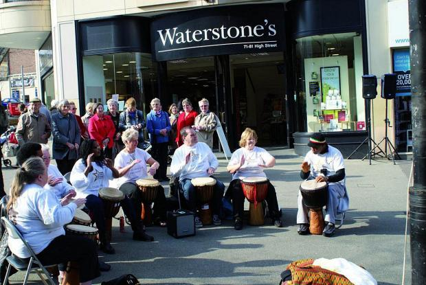 Sutton Guardian: The Gary Mason Drummers entertaining the crowds
