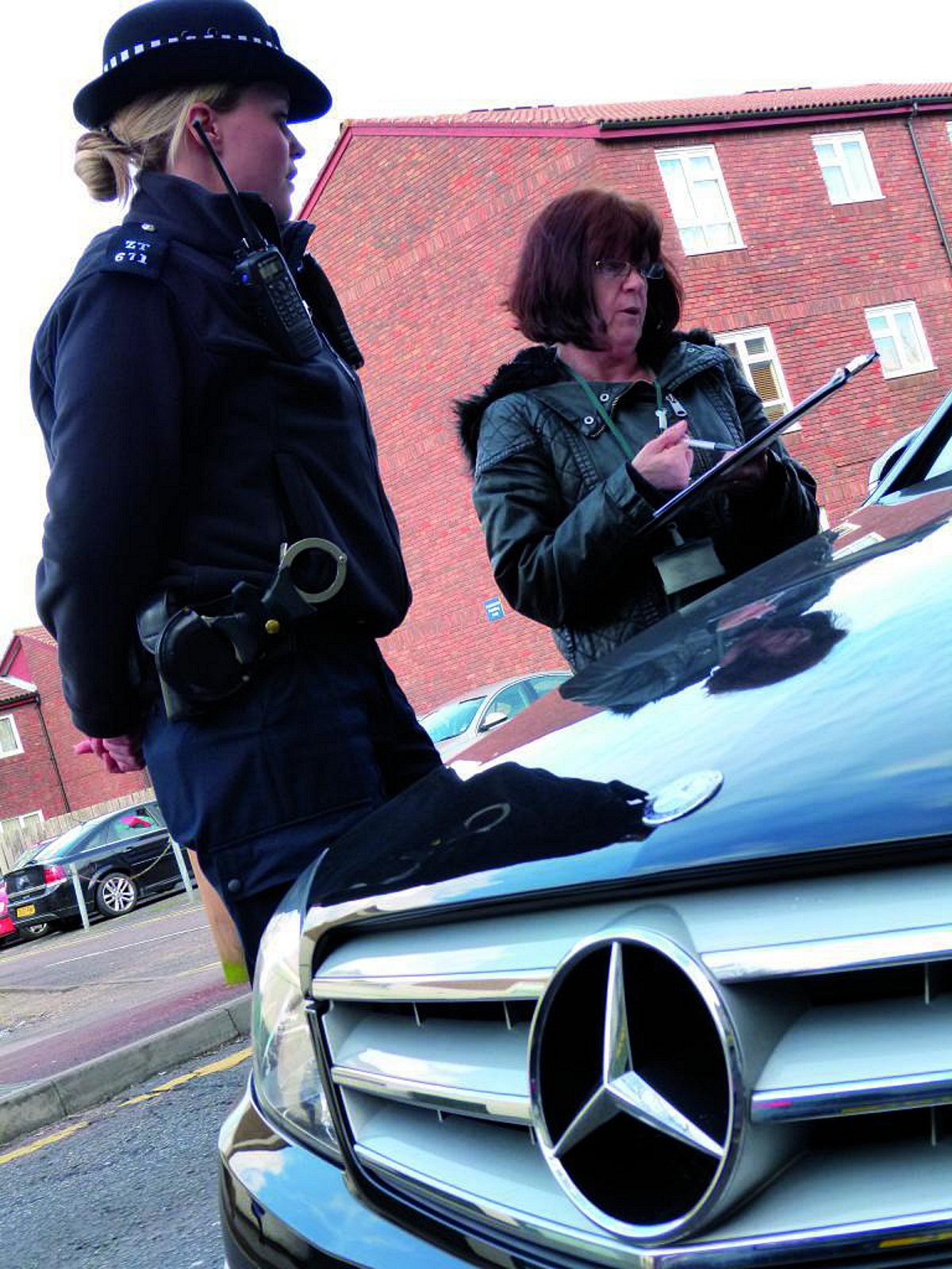 PC Becky Ede with permit officer Susan Torry during the first patrol in Sutton town centre