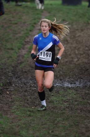 Missed out: Pheobe Law was just outside the medals at the Inter County Cross Country Championships