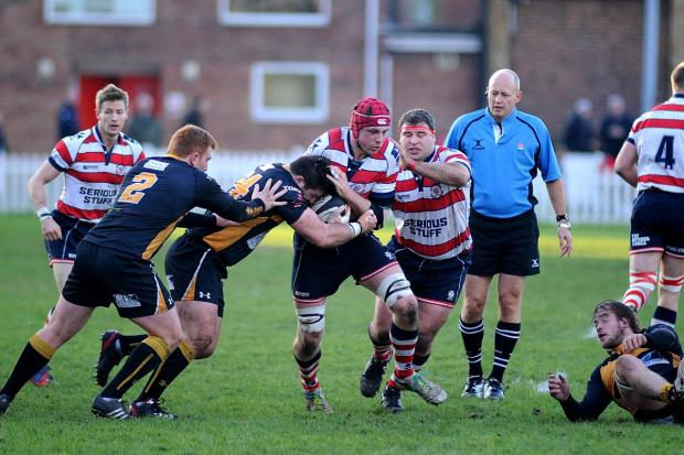 Rivalry: When Esher and Rosslyn Park met in November, Park took the derby bragging rights in a 38-31 win                     SP80765