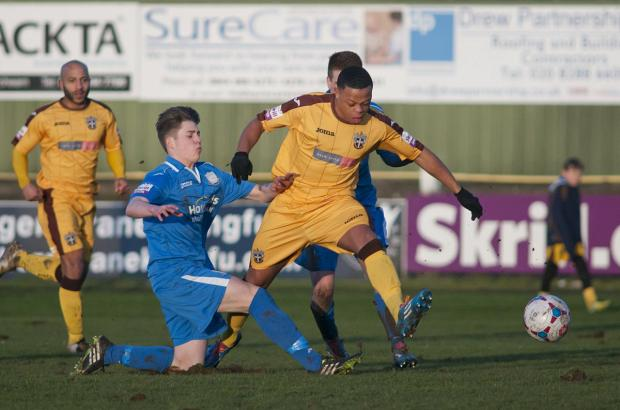 Sutton Guardian: Opener: Gavin McCallum got United up and running against Gosport on Tuesday