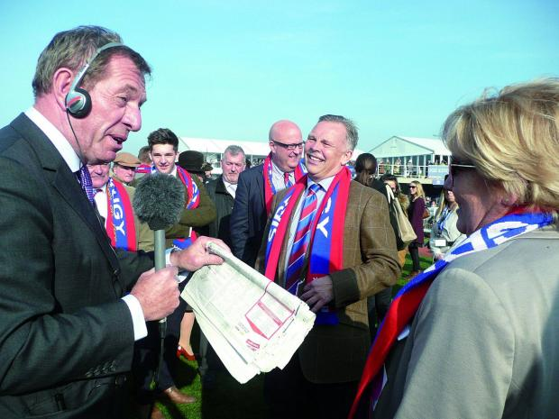 Sutton Guardian: Die hard Crystal Palace supporter Steve Preston is Sire De Grugy's owner