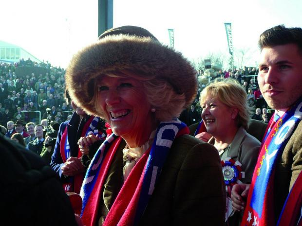 Sutton Guardian: The Duchess of Cornwall was given one of the Sire De Grugy scarves