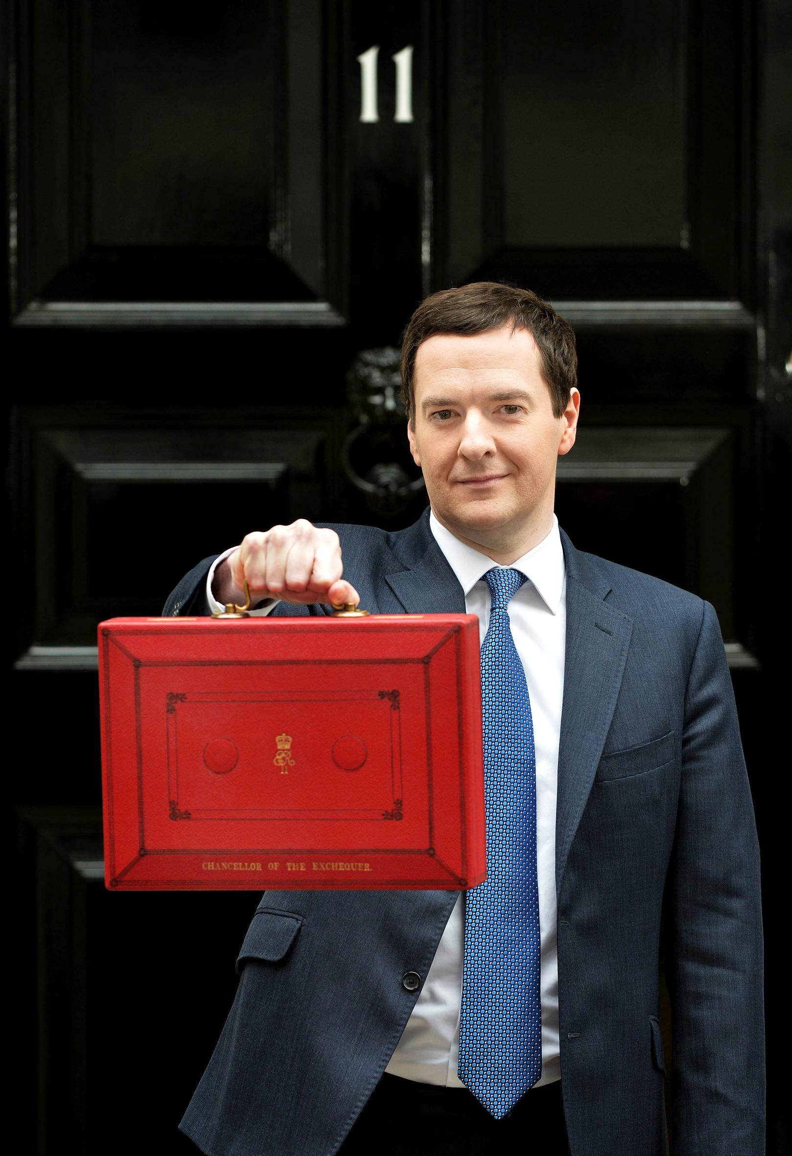 The Budget: The only time when a red briefcase looks normal.