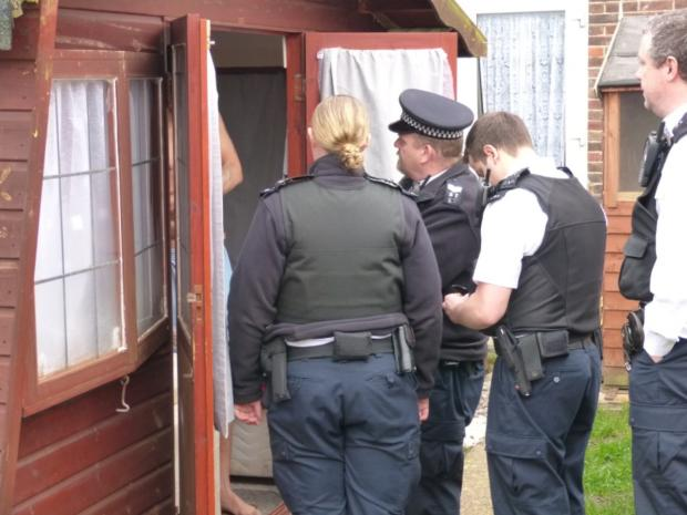 Police visited the house in Middleton Road, Carshalton, last week