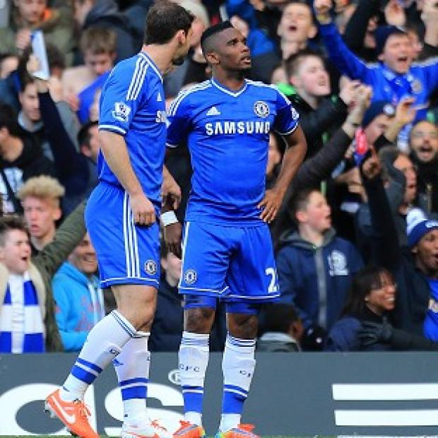 Sutton Guardian: Samuel Eto'o, right, started Chelsea's rout