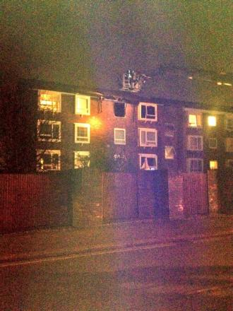 Firefighters had to rescue a man from the flat (Pic by Julia from Chloe Boutique and Hat Hire)