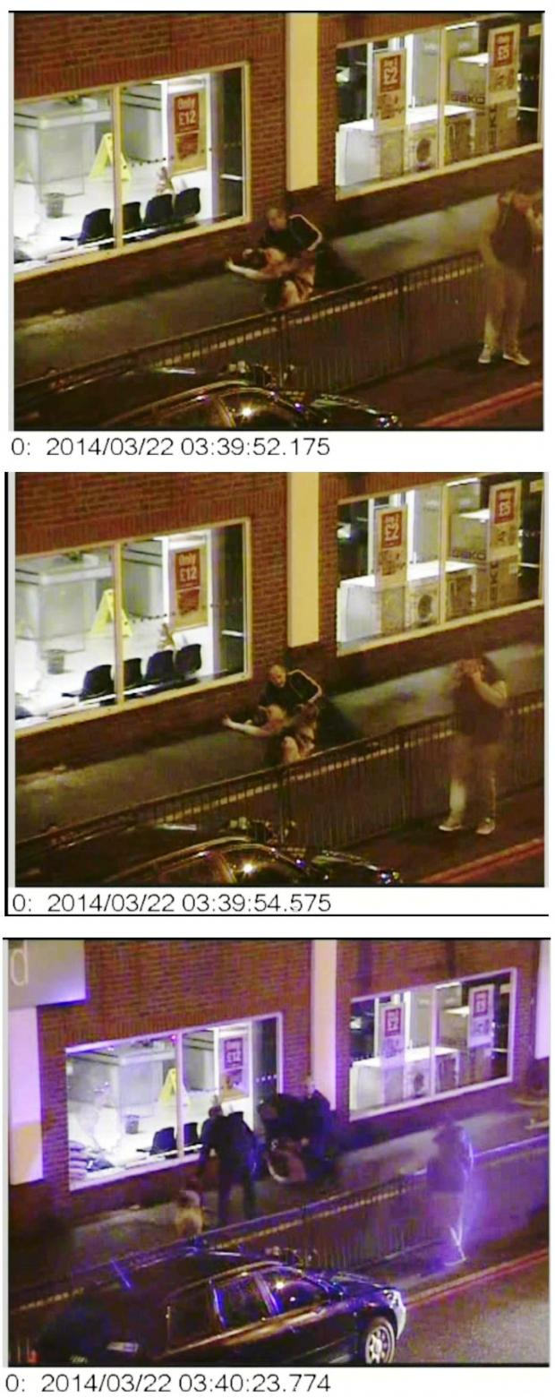 Sutton Guardian: Stills from the CCTV - see below for the full video