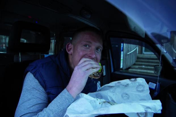 Food junkie: Joey Bone will tour London's eateries in his cab