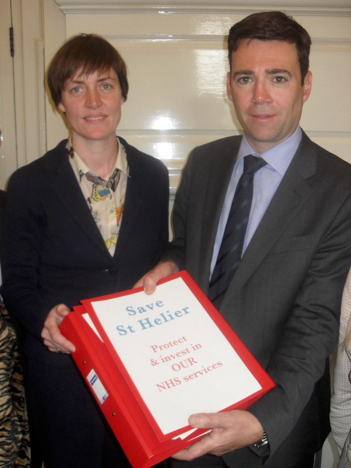 Labour parliamentary hopeful Siobhan Tate with Mr Burnham
