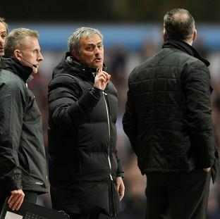 Jose Mourinho was unhappy with the way his side's match at Aston Villa was refereed