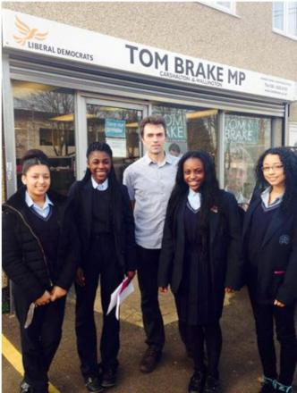 Carshalton and Wallington MP Tom Brake with thr