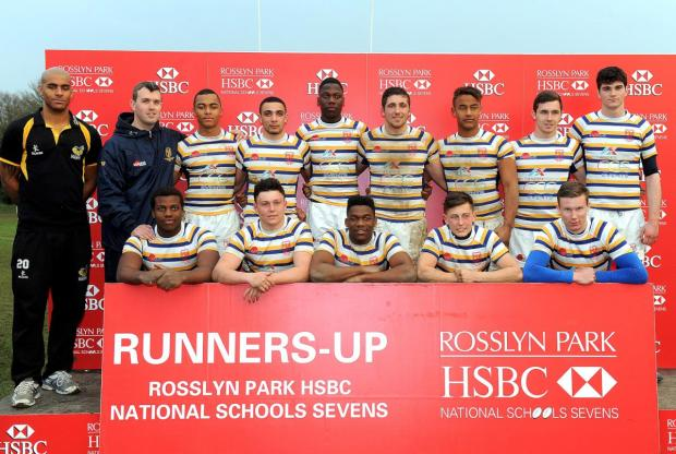 Runners up: Purley-based John Fisher School missed out in the Rosslyn Park HSBC National School Sevens open final