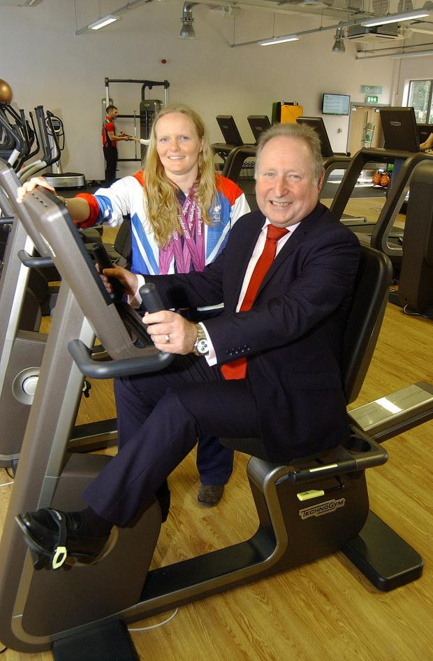 Sutton Guardian: Susie Rodgers and Cllr Peter Kotz at Charlton Lido's relaunch